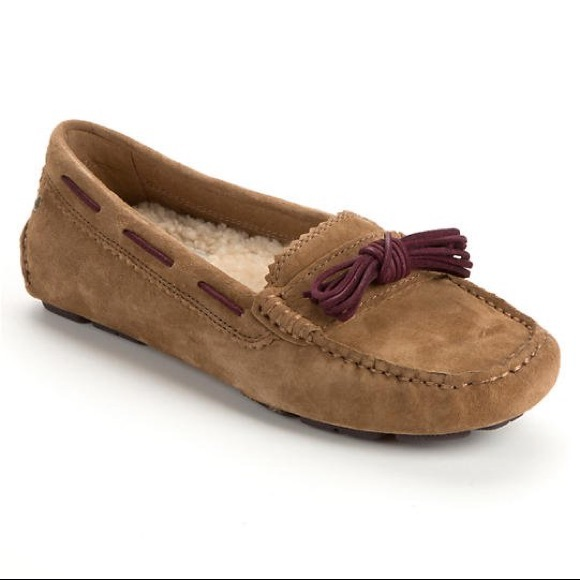 3890b73a3d8 Brown UGG Meena II Loafers with box